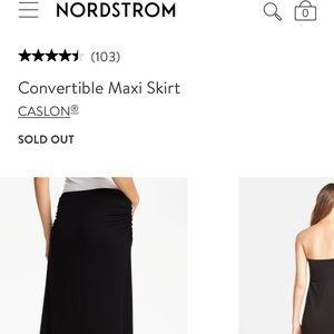 Nordstrom convertible maxi skirt